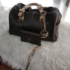Michael Kors handbag and wallet.